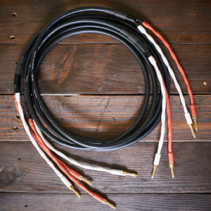 Canare 4S8 Speaker Cable Braid-Terminated with Palics Banana Plugs (a pair)